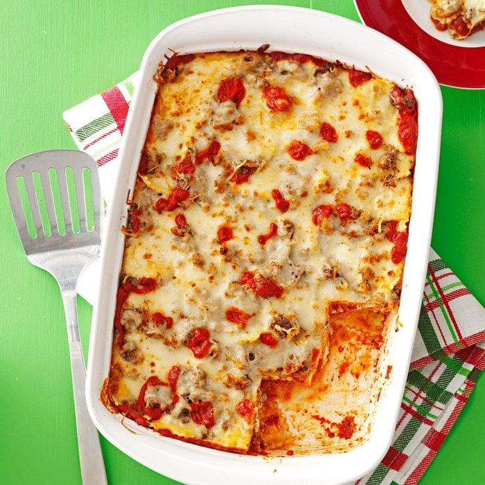 Sausage Ravioli Lasagna
