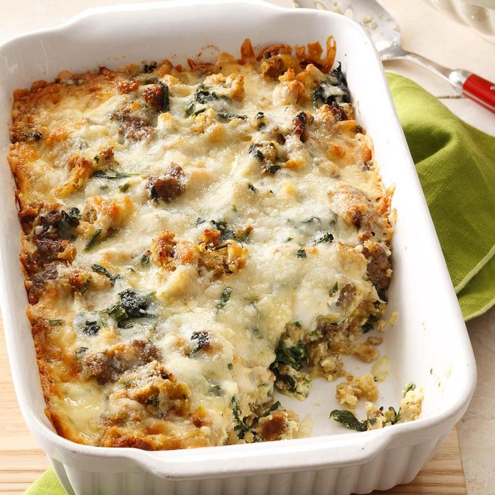 Sausage Spinach Bake Exps30004 Cw143433c03 11 3b 4