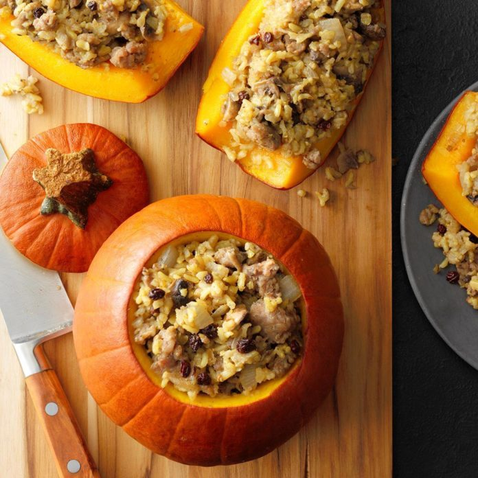 Sausage-Stuffed Pumpkins