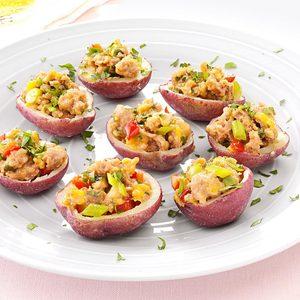 Sausage-Stuffed Red Potatoes