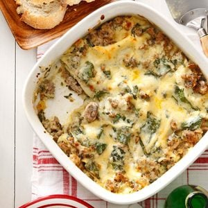 Sausage & Swiss Chard Lasagna