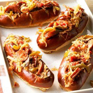 Sausage and Kraut Buns