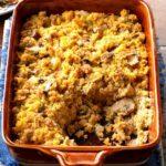 Sausage and Mushroom Corn Bread Dressing