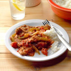 Tomato and Pepper Sirloin Steak