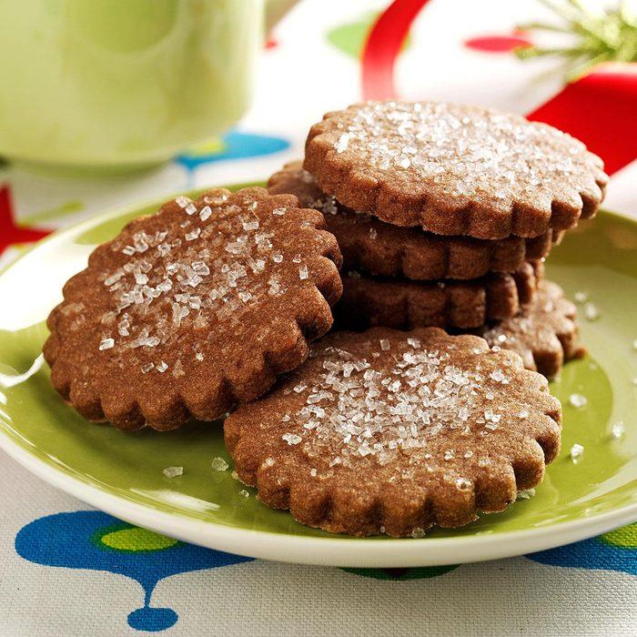 Scalloped Mocha Cookies