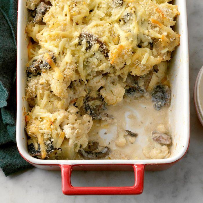 Scalloped Portobello & Cauliflower