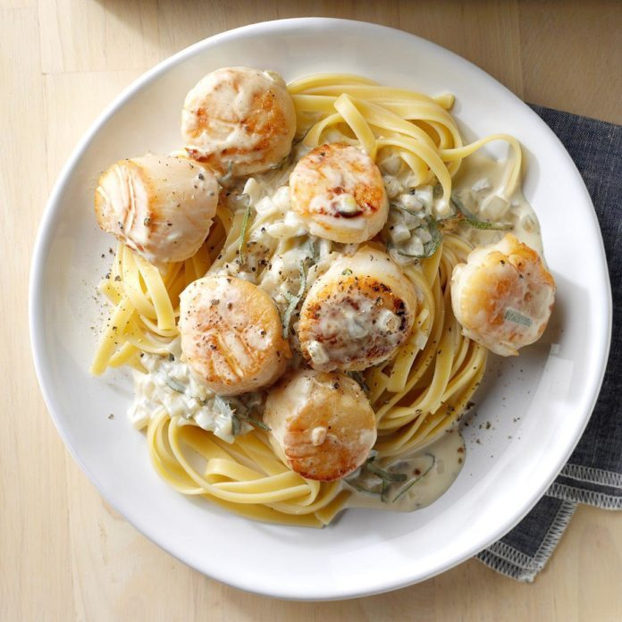 May 13: Scallops in Sage Cream