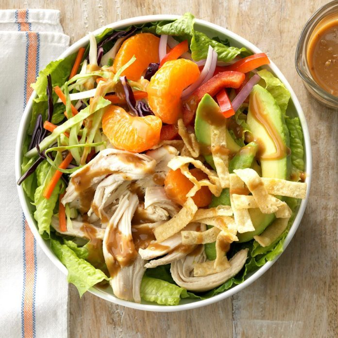 Sesame Chicken Slaw Salad