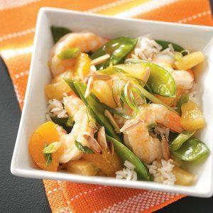 Sesame Shrimp & Rice