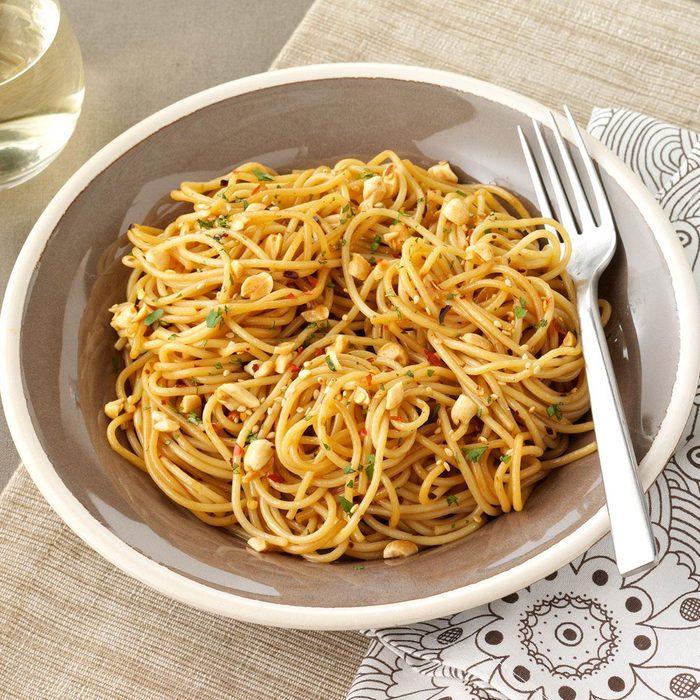 Sesame Spaghetti Salad with Peanuts