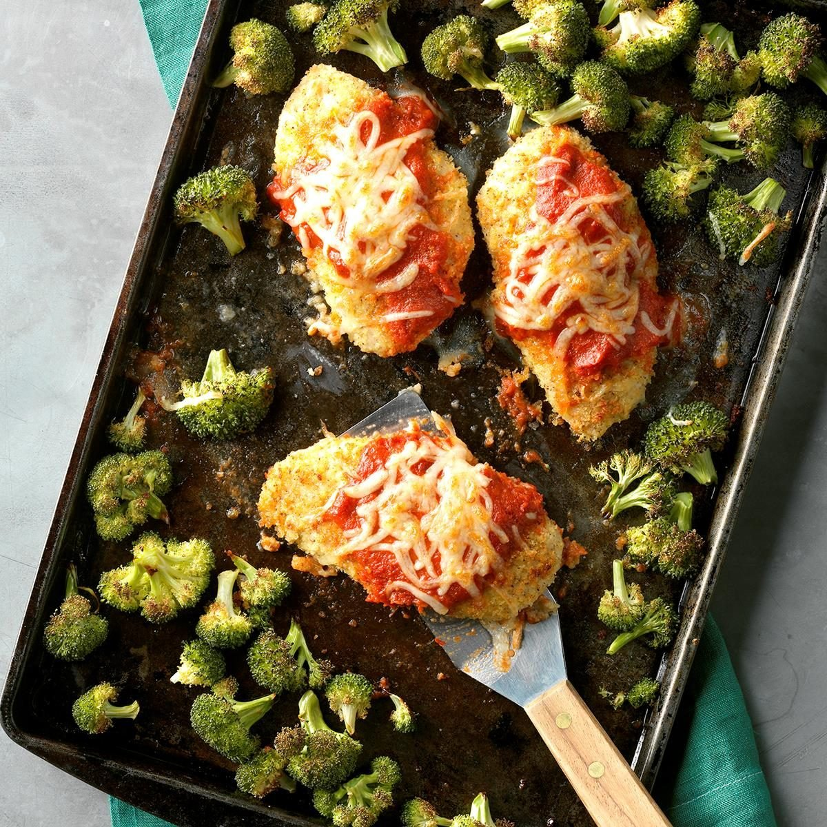 Friday: Sheet-Pan Chicken Parmesan