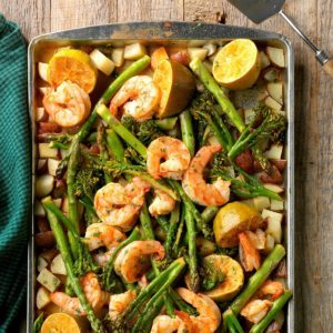 Sheet-Pan Chipotle-Lime Shrimp Bake