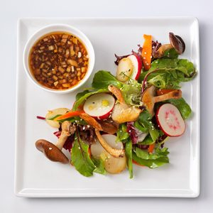 Shiitake Salad with Sesame-Ginger Vinaigrette