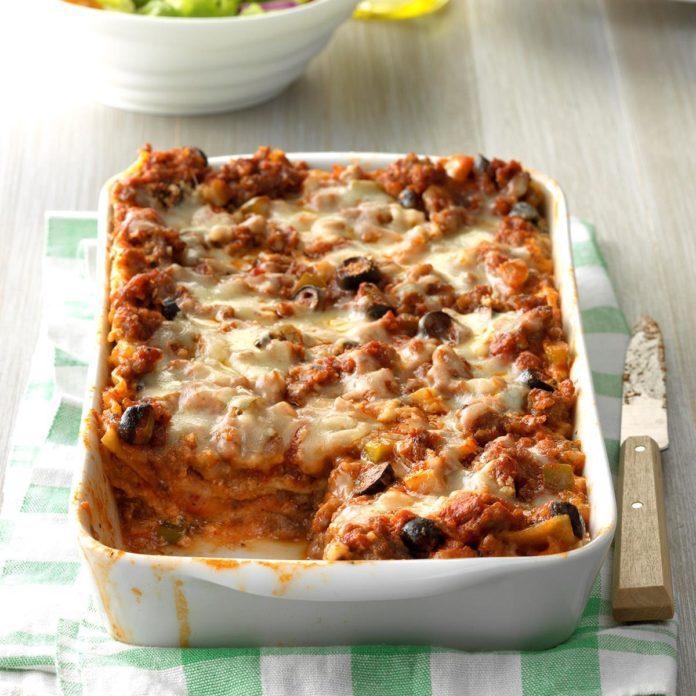 Shortcut Sausage Lasagna