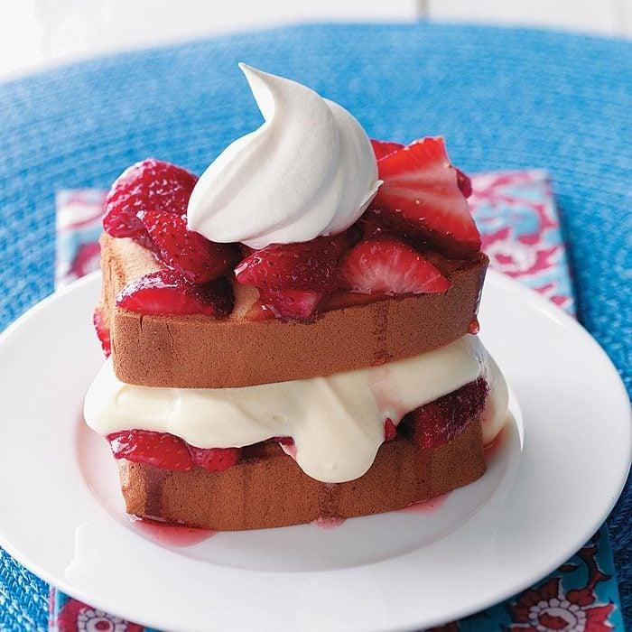 Shortcut Strawberry-Vanilla Dessert