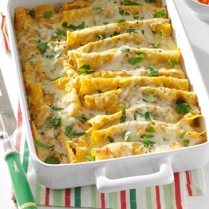 Shrimp Enchiladas with Green Sauce