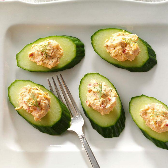 Shrimp & Feta Cucumber Rounds