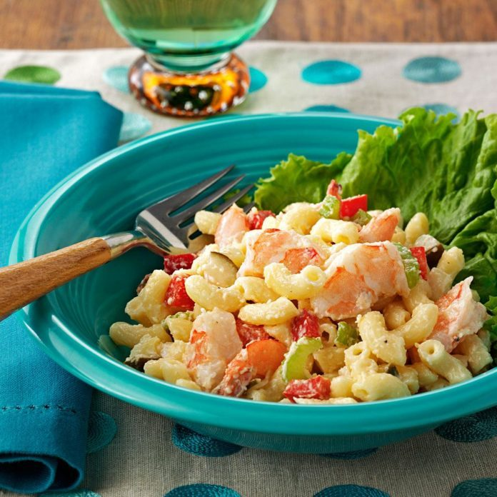 Shrimp Mac & Cheese Salad