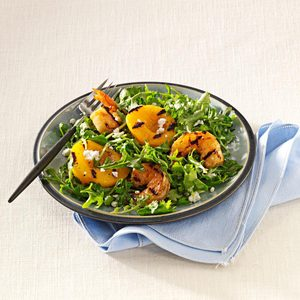 Shrimp Salad with Peaches