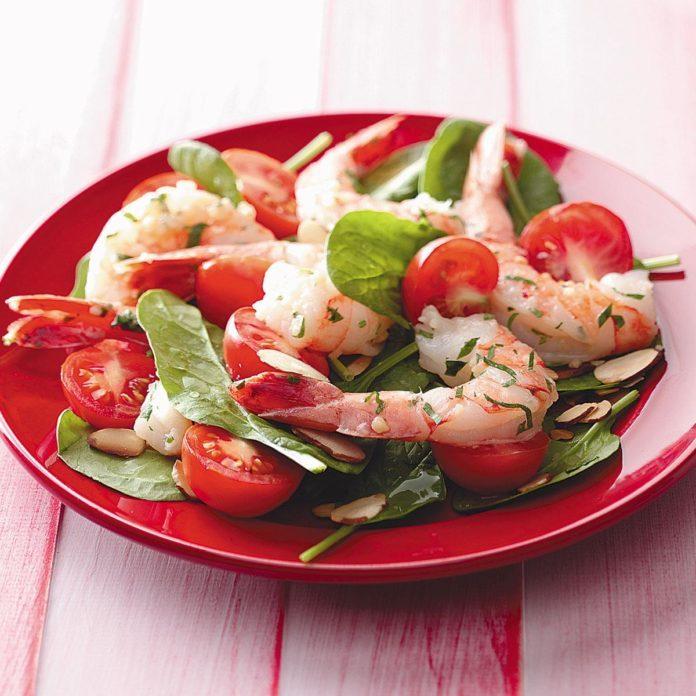 Shrimp Spinach Salad