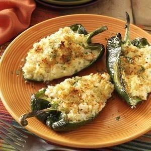 Shrimp-Stuffed Poblano Peppers