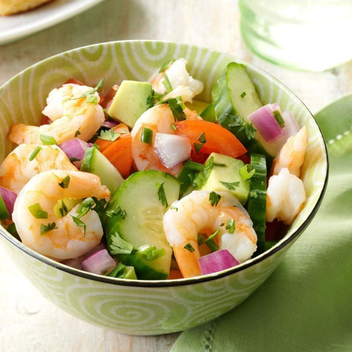 Tuesday's Lunch: Shrimp Veggie Salad