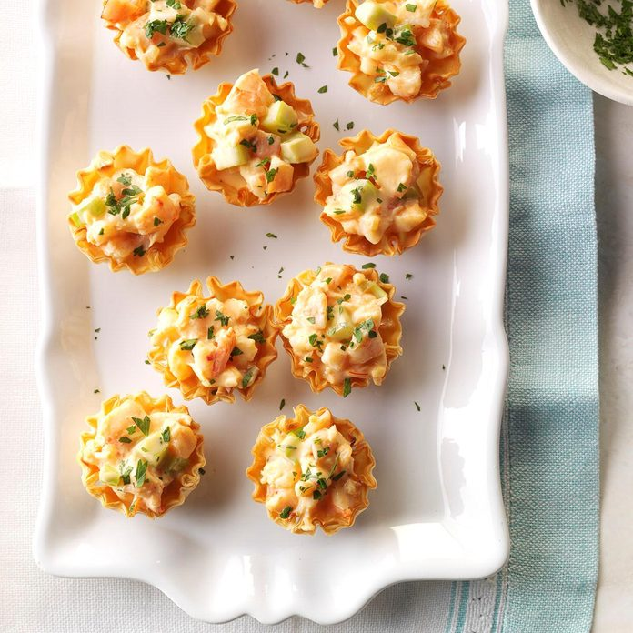 Appetizers & Small Plates: Shrimp in Phyllo Cups