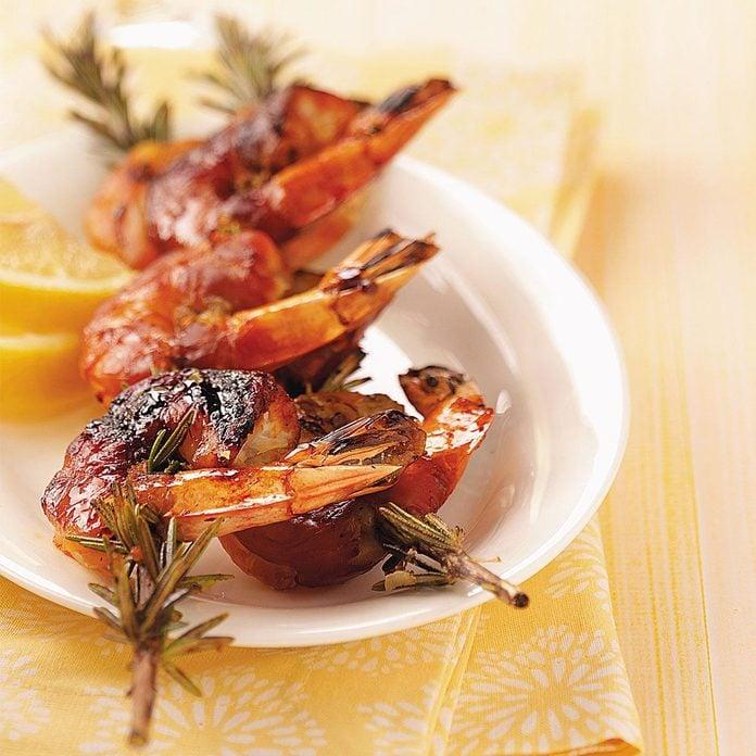 Shrimp on Rosemary Skewers