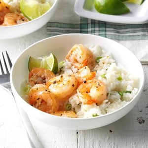Shrimp with Coconut Rice