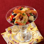 Shrimp with Roasted Peppers