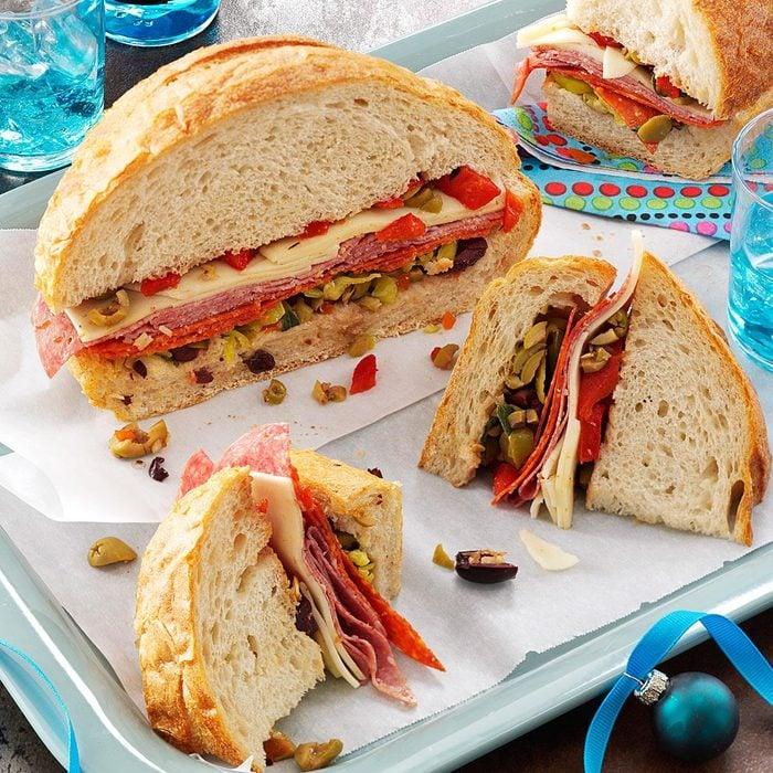 Sicilian Overstuffed Sandwich Wedges