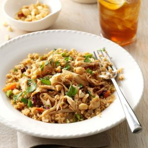 Simple Sesame Chicken with Couscous