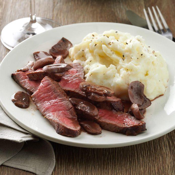 Day 5: Sirloin Steak with Mushroom Sauce