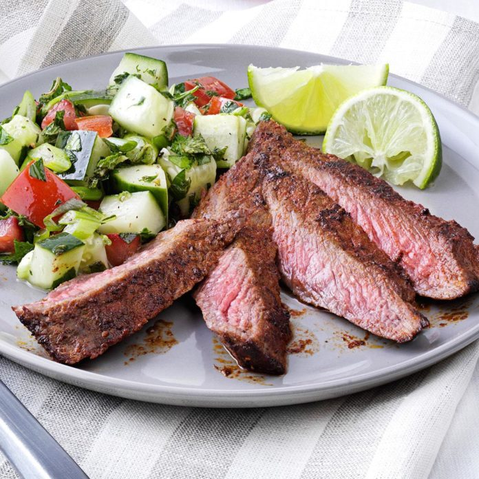 Sizzle smoke flat iron steaks