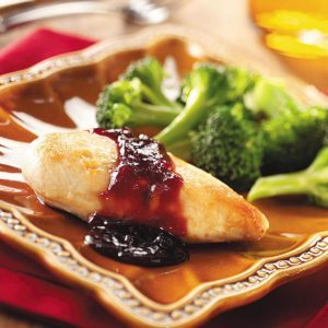 Skillet Chicken with Raspberry Sauce