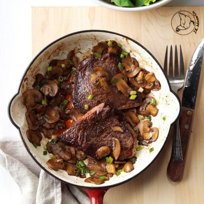Day 9: Skillet Steak Supper
