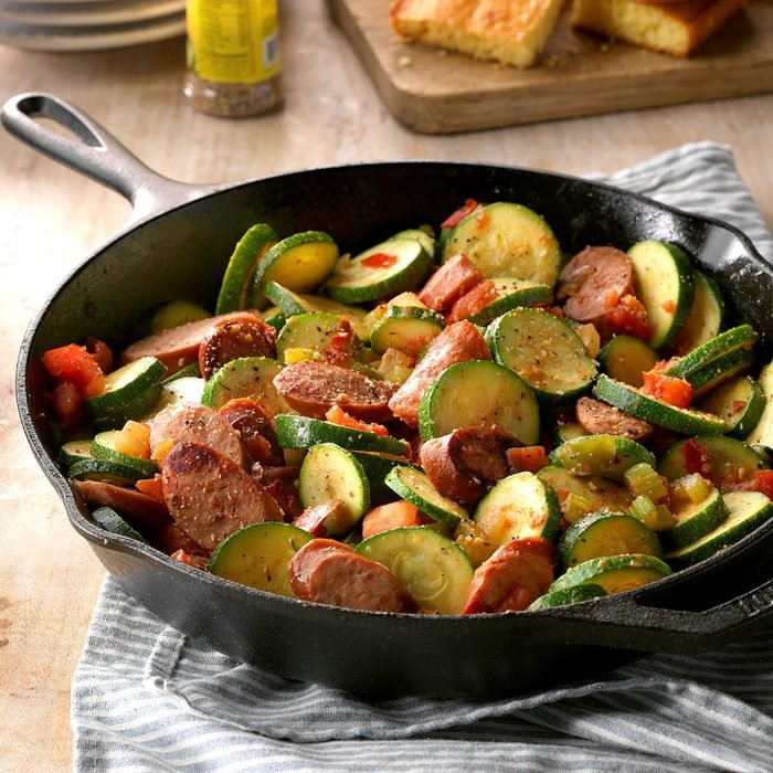 Skillet Zucchini and Sausage