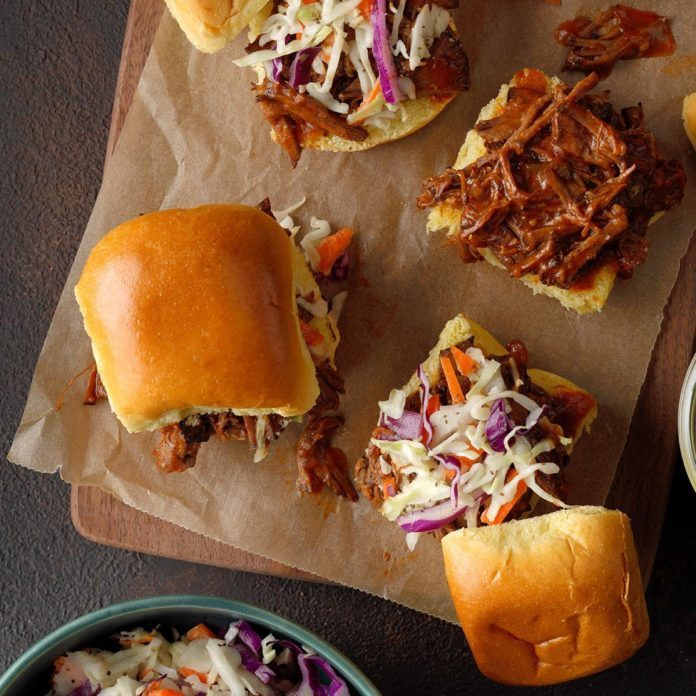 Slaw-Topped Beef Sliders