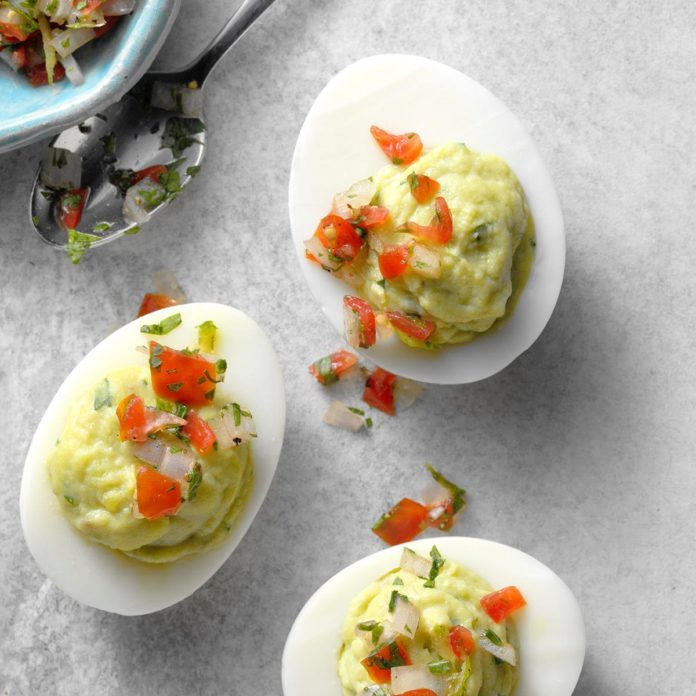 Slim Guacamole Deviled Eggs