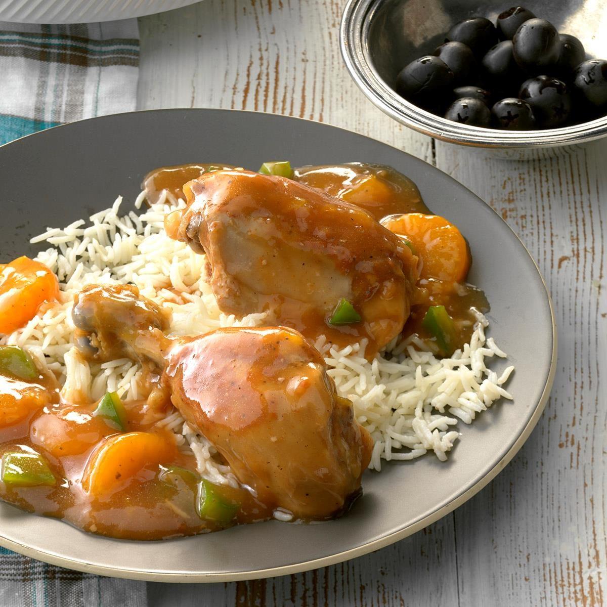 Slow-Cooked Mandarin Chicken