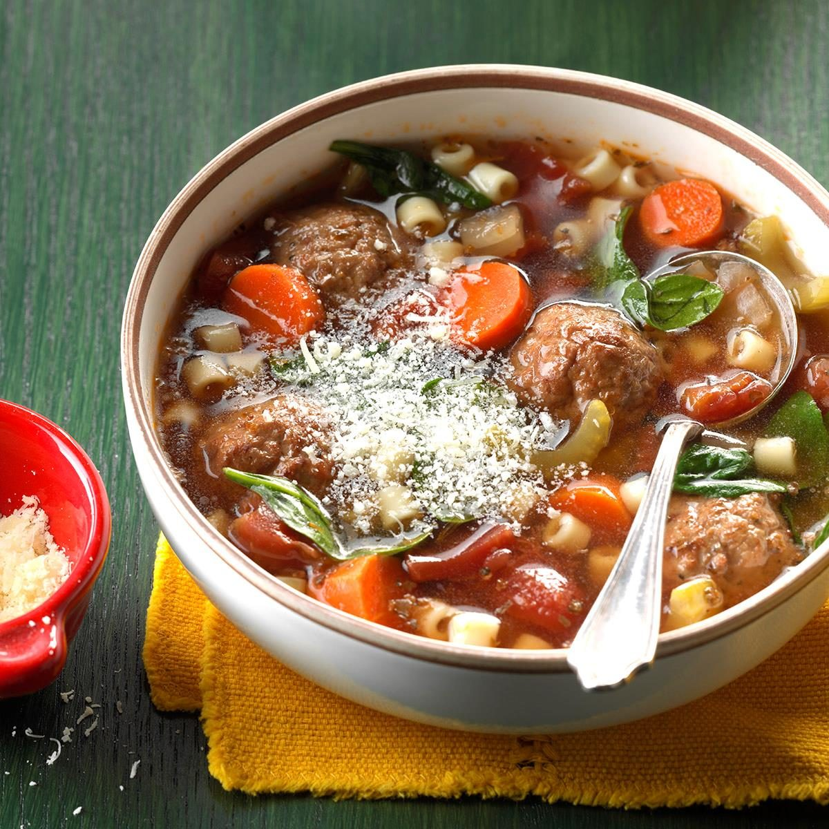 Sunday: Slow-Cooked Meatball Soup