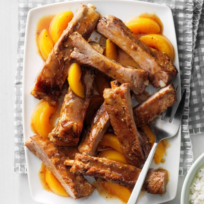 Day 1: Slow-Cooked Peachy Spareribs