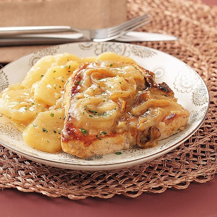Slow-Cooked Pork Chops & Scalloped Potatoes
