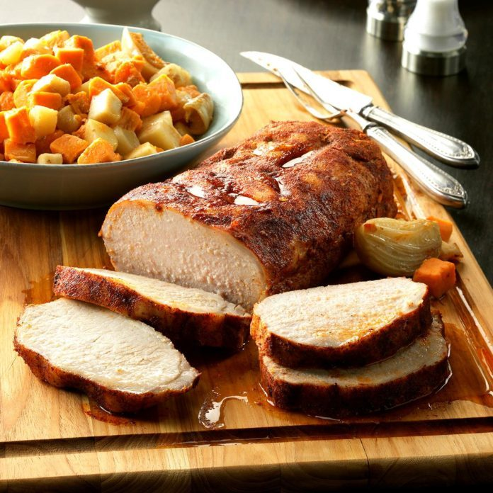 Slow-Cooked Pork with Root Vegetables