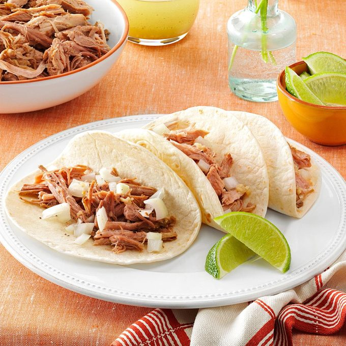 Slow-Cooked Pulled Pork with Mojito Sauce