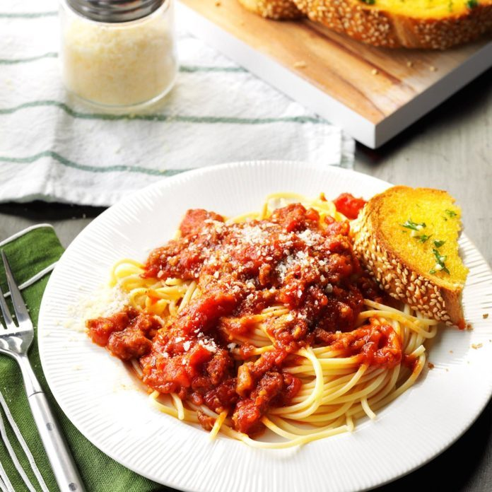 Slow-Cooked Spaghetti Sauce