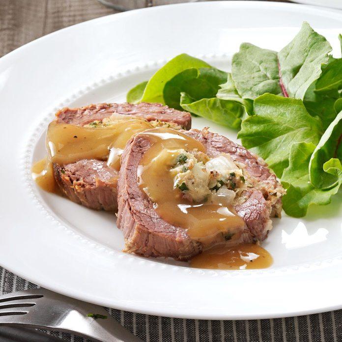 Slow-Cooked Stuffed Flank Steak