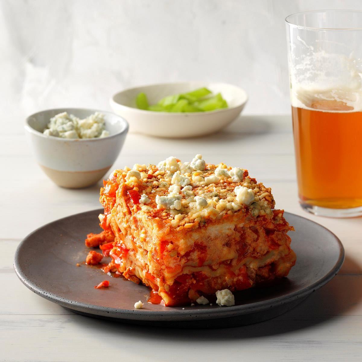 Slow-Cooker Buffalo Chicken Lasagna