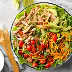 Slow-Cooker Chicken Taco Salad