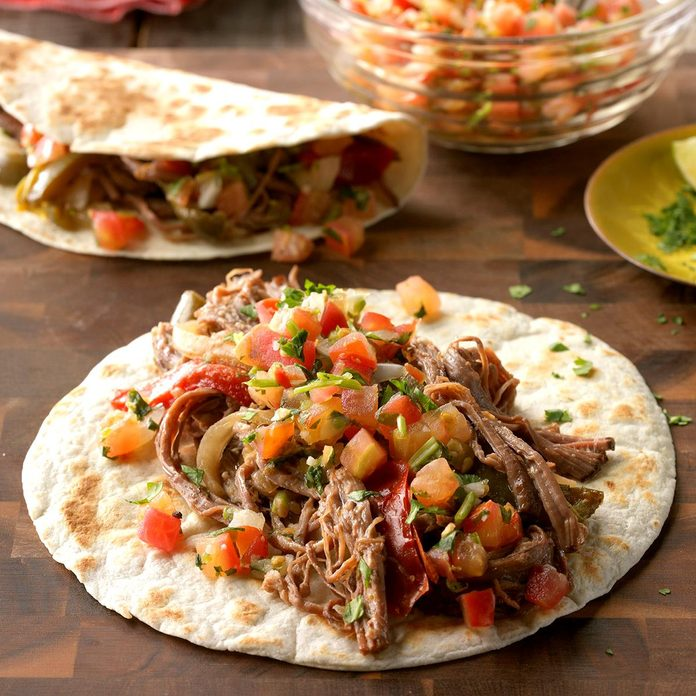 Slow-Cooker Flank Steak Fajitas